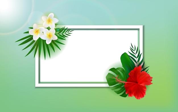 Quadro tropical exótico natural vazio abstrato