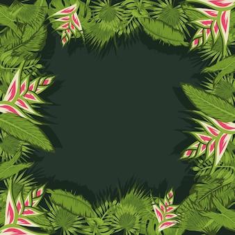 Quadro tropical heliconias