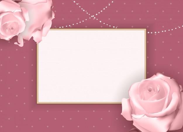 Quadro vazio abstrato rosa. fundo