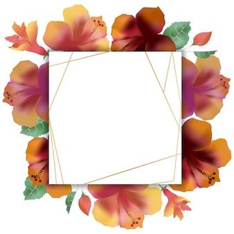 Quadro vazio com peônia, campainhas e flor arquivada. copyspace
