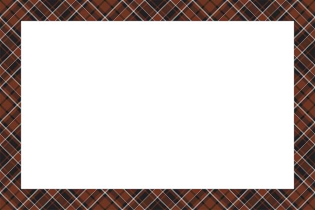 Quadro vintage. borda escocesa em estilo retro