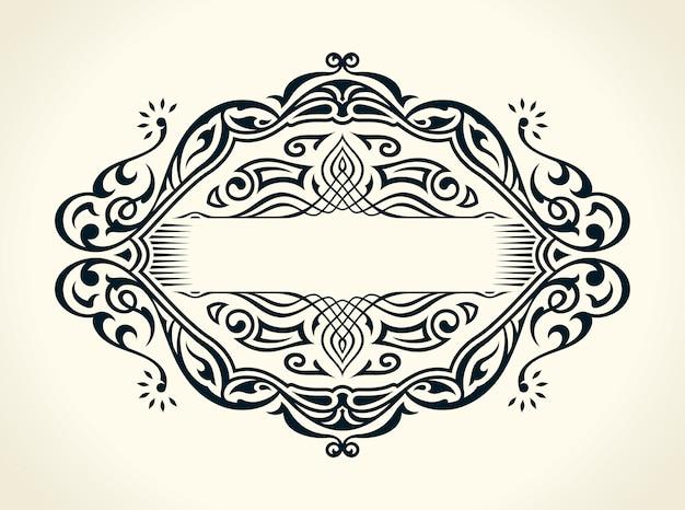 Quadro vintage caligráfico