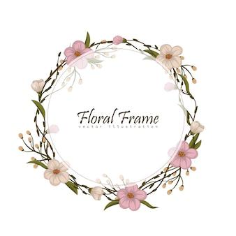 Quadro vintage com flores