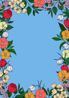Quadro vintage floral.