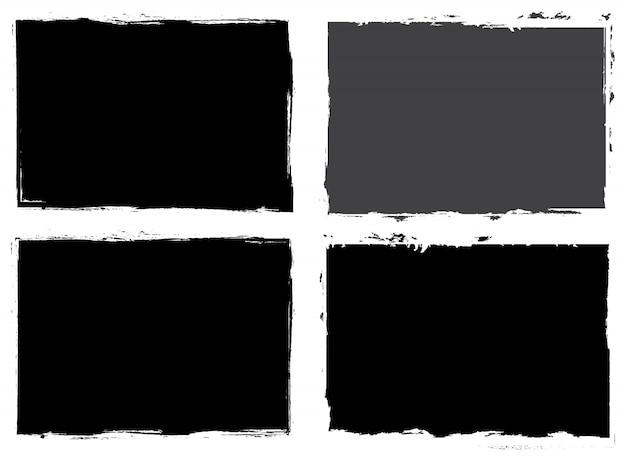 Quadros abstratos grunge preto