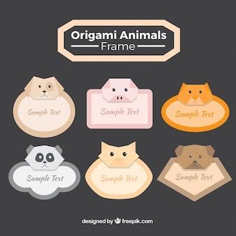 Quadros animais de origami