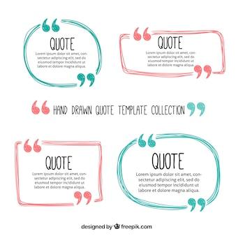Quadros bonito citações desenhados mão