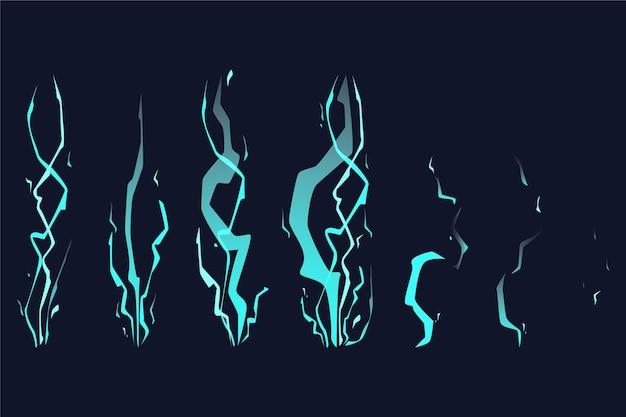 Quadros de animação de choque de desenho animado