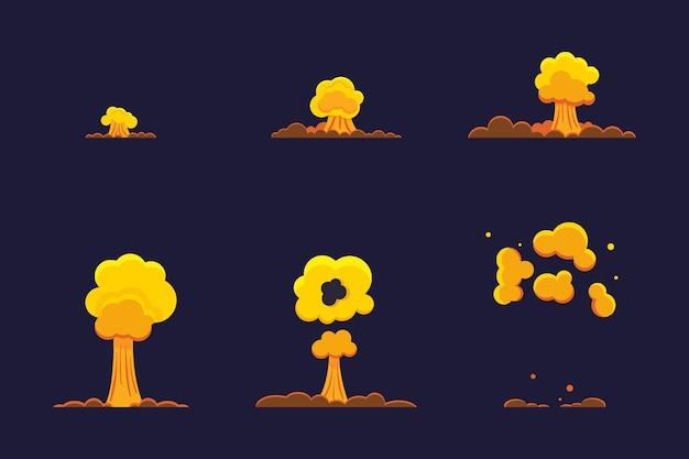 Quadros de animação de elemento plano orgânico