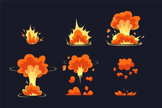 Quadros de animação plana orgânica para o elemento