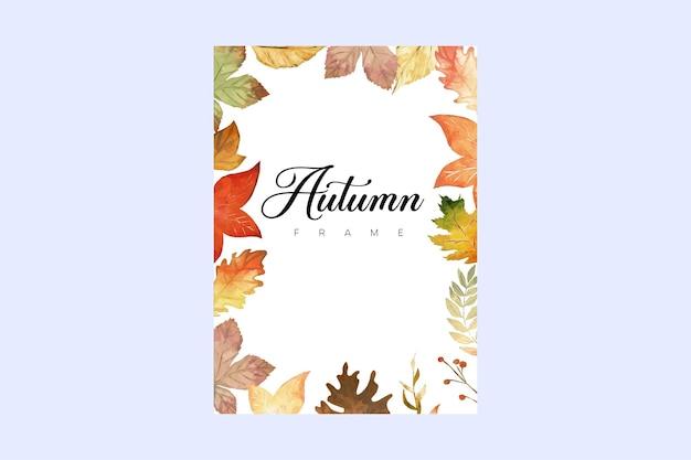 Quadros de aquarela de outono