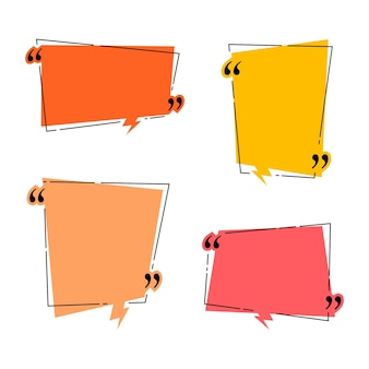 Quadros de citações para o modelo de caixa de diálogo de ideia e cotação