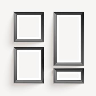 Quadros de exibição de foto de parede vazia