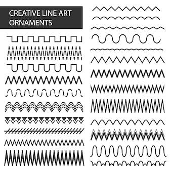 Quadros de linha de mão desenhada