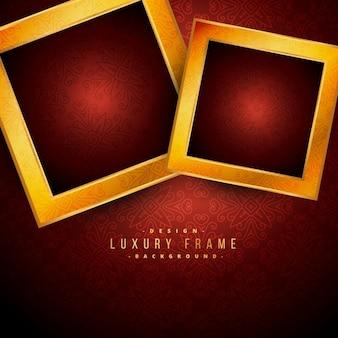 Quadros de luxo douradas no fundo vermelho do vintage