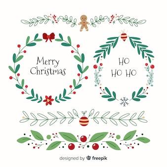 Quadros de Natal e coleção de fronteiras