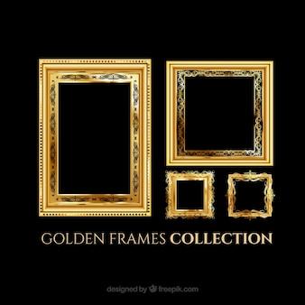 Quadros elegantes de ouro