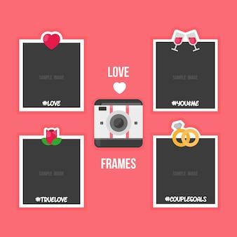 Quadros encantadores polaroid