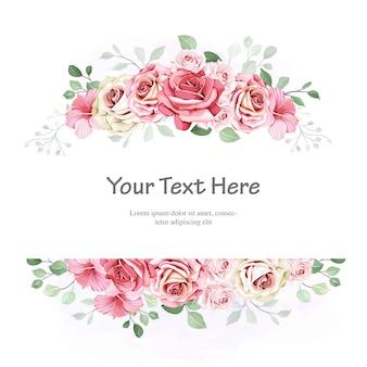 Quadros florais com aquarela linda deixa modelo