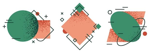 Quadros geométricos abstratos.