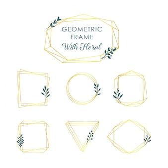 Quadros geométricos dourados