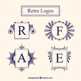 Quadros logotipo do vintage ajustados