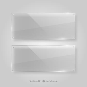Quadros transparentes de cristal