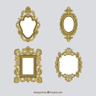 Quadros victorian de ouro definido