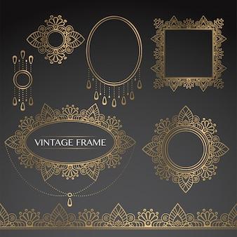 Quadros vintage de ouro