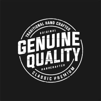 Qualidade genuína do carimbo do logotipo