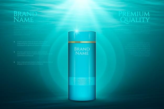Qualidade premium de publicidade de produtos para a pele