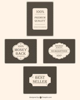 Qualidade premium do vintage adesivos