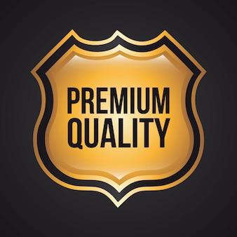 Qualidade premium sobre ilustração vetorial de fundo preto