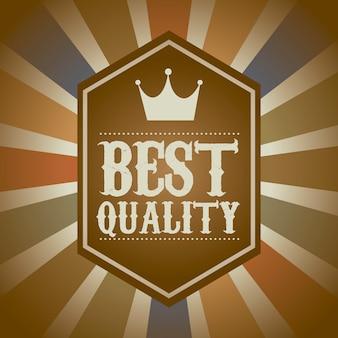 Qualidade premium sobre ilustração vetorial de fundo vintage