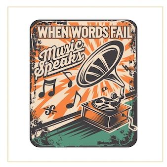Quando as palavras falham, a musica fala