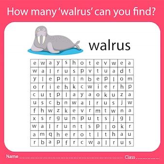 Quantas 'morsas' você consegue encontrar?