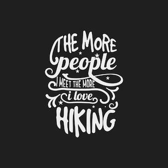 Quanto mais pessoas agradam citação com t-shirt de tipografia.