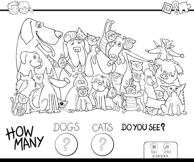 Quantos cadernos para colorir cães e gatos