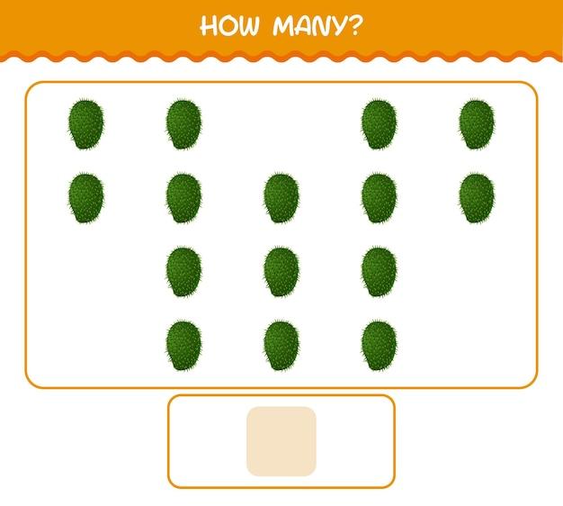 Quantos desenhos animados graviola. jogo de contagem. jogo educativo para crianças e bebês antes da idade escolar