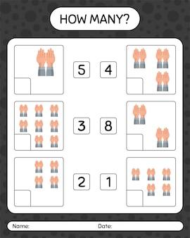 Quantos jogos de contagem com a oração. planilha