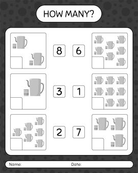 Quantos jogos de contagem com bule árabe. planilha