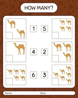 Quantos jogos de contagem com camelo. planilha