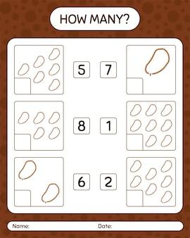 Quantos jogos de contagem com contas de oração. planilha