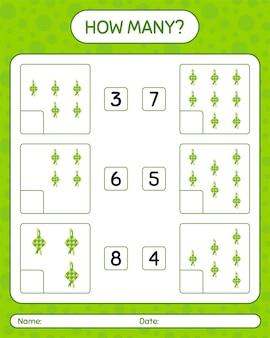 Quantos jogos de contagem com ketupat. planilha