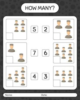 Quantos jogos de contagem com muçulmanos masculinos. planilha