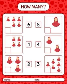 Quantos jogos de contagem com mulheres muçulmanas. planilha