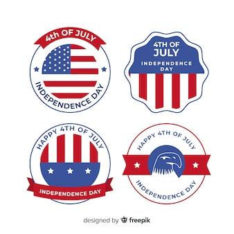 Quarta coleção de crachá de julho