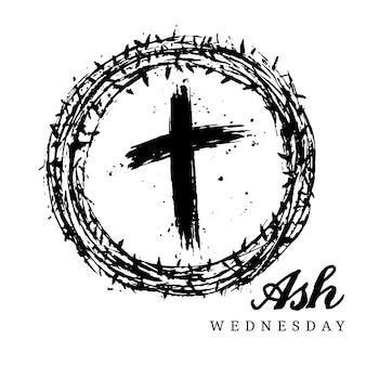 Quarta-feira de cinzas cruz a tinta