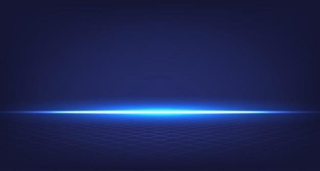 Quarto abstrato azul