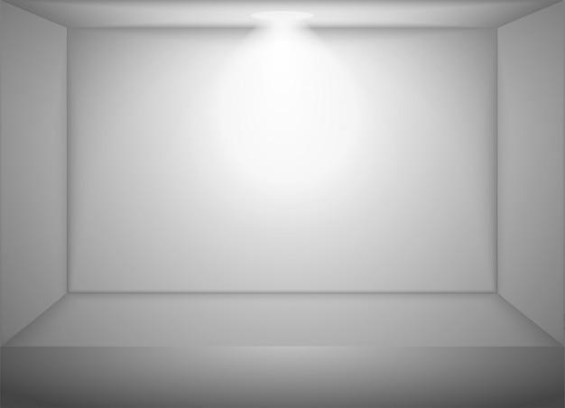 Quarto branco vazio de vetor